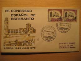 SPAIN Lerida Lleida 1975 Kongreso Esperanto Cancel Cover - Esperanto