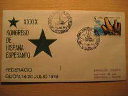 SPAIN Gijon Asturias 1979 Kongreso Esperanto Cancel Cover - Esperanto
