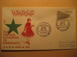 SPAIN Valladolid 1974 Kongreso Esperanto Cancel Cover - Esperanto