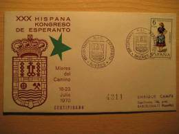 SPAIN Mieres Asturias 1970 Kongreso Esperanto Cancel Cover - Esperanto