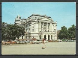 Deutschland DDR Landeshauptstadt SCHWERIN Mecklenburgisches Staatstheater Sent 1990 With Stamp - Schwerin