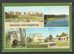 Deutschland DDR Landeshauptstadt SCHWERIN Und Umgebung Sent 1990 With Stamp - Schwerin