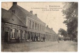 VLETEREN - WESTVLETEREN - Le Secrétariat Communal - Gemeentesekretariaat Et La Route De Poperinghe - Vleteren