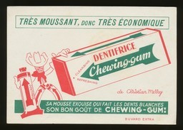Buvard - DENTIFRICE Chewing-gum - Buvards, Protège-cahiers Illustrés