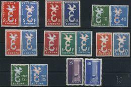 1958 Europa C.E.P.T., Annata Completa, Serie Complete Nuove (**) - Europa-CEPT