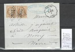 France  Lettre Convoyeur Station Autun à Nevers - Gare De FOURS - Nievre - Postmark Collection (Covers)