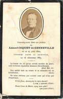 FAIRE PART ACTE DE DECES Amand Coquet De Geneville - Décès