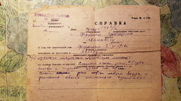 Soviet  Document - Jew, Jewish Person, Furman Gregory, Judaica  - Medical Certificate About Battle Wounds, 1945 - Documents Historiques