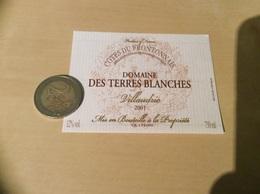 Etiquette De Vin 2001 **«COTES DU FRONTONNAIS - DOMAINE DES TERRES BLANCHES - Villaudric - Vignerons De Rabastens (81) » - Rouges