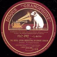 78 Trs 30 Cm 2 Disques TB  PEER GYNT,AU MATIN,LA MORT D'ASE,DANSE D'ANITRA, DANS LE HALL, THE ROYAL OPERA ORCH. - 78 T - Disques Pour Gramophone