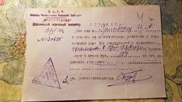 Soviet  Document - Jew, Jewish Person, Griberg Iezekil,  Judaica  - Exportbread Certificate 1934 - Documenti Storici