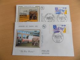 FDC (2) France : Journée Du Timbre, Le Tri Postal (timbre Classique + De Carnet) - Paris 16/03/1991 - FDC