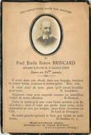 FAIRE PART ACTE DE DECES  Mr Paul Emile BARON BRINCARD - Décès