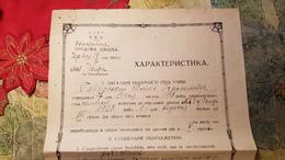 Soviet  Document - Jew, Jewish Person, Gavursky Yulian Izrailevitch,  Judaica  - Odessa School Testimonial 1930 - Documenti Storici