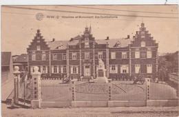 REBECQ-HOSPICE ET MONUMENT DES COMBATTANTS-CANONS-CARTE ENVOYEE-1922-VOYEZ LES 2 SCANS ! ! ! - Rebecq