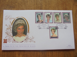 S068: DIANA 1961-1997. A Tribute To The Princess Of Wales. 5 X 26p Stamps. 3.2.98.FIRST DAY COVER. - FDC