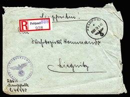 A5722) DR Feldpost R-Brief FP L49440 über 888 28.9.43 N. Liegnitz - Briefe U. Dokumente
