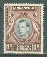 K.U.T.: 1938/54   KGVI    SG131ai    1c   Black & Red-brown  [Perf: 13¼ X 13¾]   MNH - Kenya, Uganda & Tanganyika