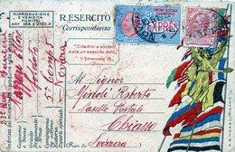 1912 Italia - Cartolina Postale Espresso Da Novara Per Chiasso - Italia