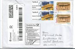 EP093a / Spanien,  Retourbrief 2018 Von Deutschland (Tarifa A-Marken + 2 X 2,10 Euro) - 1931-Heute: 2. Rep. - ... Juan Carlos I