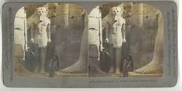 Photo Stéréoscopique - Statue De Ramsès II, Temple De Luxor, Thebes, Egypte - Photos Stéréoscopiques