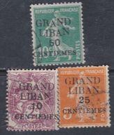 Grand Liban  N° 1 / 3 O  Partie De Série : Les 3 Valeurs Oblitérations Moyennes SinonTB - Timbres