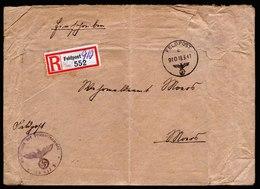 A5723) DR Feldpost R-Brief FP 25017E über 910 19.9.41 N. Moers - Briefe U. Dokumente