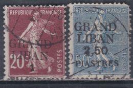 Grand Liban  N° 5 + 9 O  Partie De Série : Les 2 Valeurs Oblitérations  Moyennes SinonTB - Timbres