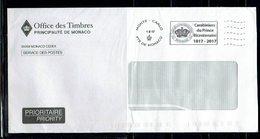 POSTAGE MONACO L'AFFRANCHISSEMENT OFFICIEL  CARABINIERS DU PRINCE BICENTENAIRE - Policia – Guardia Civil