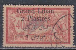 Grand Liban  N° 31 O  Partie De Série :  2 Pi Sur 40 C. Rouge Et Bleu Oblitération Moyenne Sinon TB - Timbres
