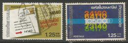 Thailand - 1983 Postal Code Used    Sc 1023-4 - Thailand