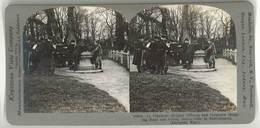 Photo Stéréoscopique - Officiers Belges , Soldats, Guerre - Photos Stéréoscopiques