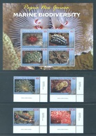 PAPUA NEW GUINEA -  MNH/*** LUXE - 2008 - MARINE BIODIVERSITY - Yv 1203-1206 BLOC 45 -  Lot 18253 - Papouasie-Nouvelle-Guinée