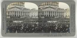 Photo Stéréoscopique - Inauguration Du Président Wilson, Washington 1913, Usa - Photos Stéréoscopiques