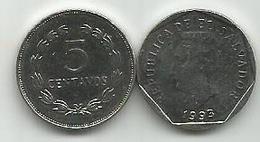 El Salvador 5 Centavos 1993. KM#154b - Salvador