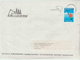 5.4.2007 - Bedarfsbeleg (Kuvertvorderseite)  Gel. V. 47895 Domagnano N. 4040 Linz -  O Gestermpelt - S. Scan (Bb RSM 01) - San Marino