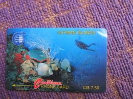 GPT Phonecard,2CCIA Coral, Used - Cayman Islands