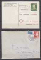 Bund MiNo. 149 EF Karte 1952 Und 169 EF Brief 1953 - Briefe U. Dokumente