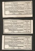 T. Germany 3psc. X Zinsschein Lech Elektrizitatswerke AG Coupon Kupon 1921 - 1923 No. 134019 Watermark - Germany
