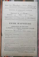 55 CHAMPLON Par ETAIN Fiche D'Aptitude C. Lambert 1947 - 48 Fin D'Etudes - Diplômes & Bulletins Scolaires