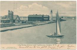 NY - BUFFALO - Life Saving Station And Lighthouse - Buffalo