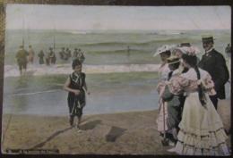 France - CPA Dunkerque - A La Sortie Du Bain - Carte Couleur Animée Circulée En 1908 - Dunkerque