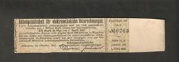 T. Germany Zinsschein Aktiengesellschaft Fur Elektrotechnische Unternehmungen Coupon Kupon 1920 - 1923 Lit. B No. 0763 - Germany