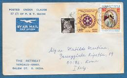 1974 INDIA BY AIR MAIL - Storia Postale