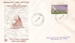 IMPIANTI DEL FUCINO PER LE TELECOMUNICAZIONI SPAZIALI 1968 COME DA FOTO - F.D.C.