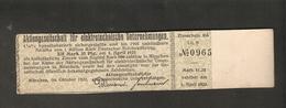 T. Germany Zinsschein AG Fur Elektrotechnische Unternehmungen 1905 Coupon Kupon 1920 - 1923 Lit. B No. 0965 - Germany