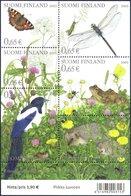 Finnland MiNr. 1657-62 = Block 30 - Sommer / Insekten, Elster - Postfrisch - Schmetterlinge