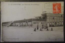 France - CPA Zuydcoote (Nord) - La Taverne Nord-Plage - Carte Animée Circulée En 1927 (flamme Daguin) - France