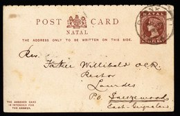 A5725) UK Natal Frage-Karte 12.11.1900 N. Sneezewood - Südafrika (...-1961)