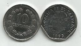 El Salvador 10 Centavos 1993. KM#155a - El Salvador